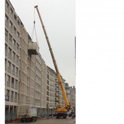Rénovation appartement Lyon travaux grue