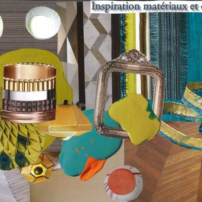 Décoratrice Lyon-Home staging -planche matériaux projet arty