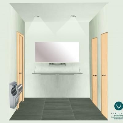 aménagement espace toilettes salle paroissiale caluire rénovation intérieure et conseil aménagement et décoration intérieure lyon
