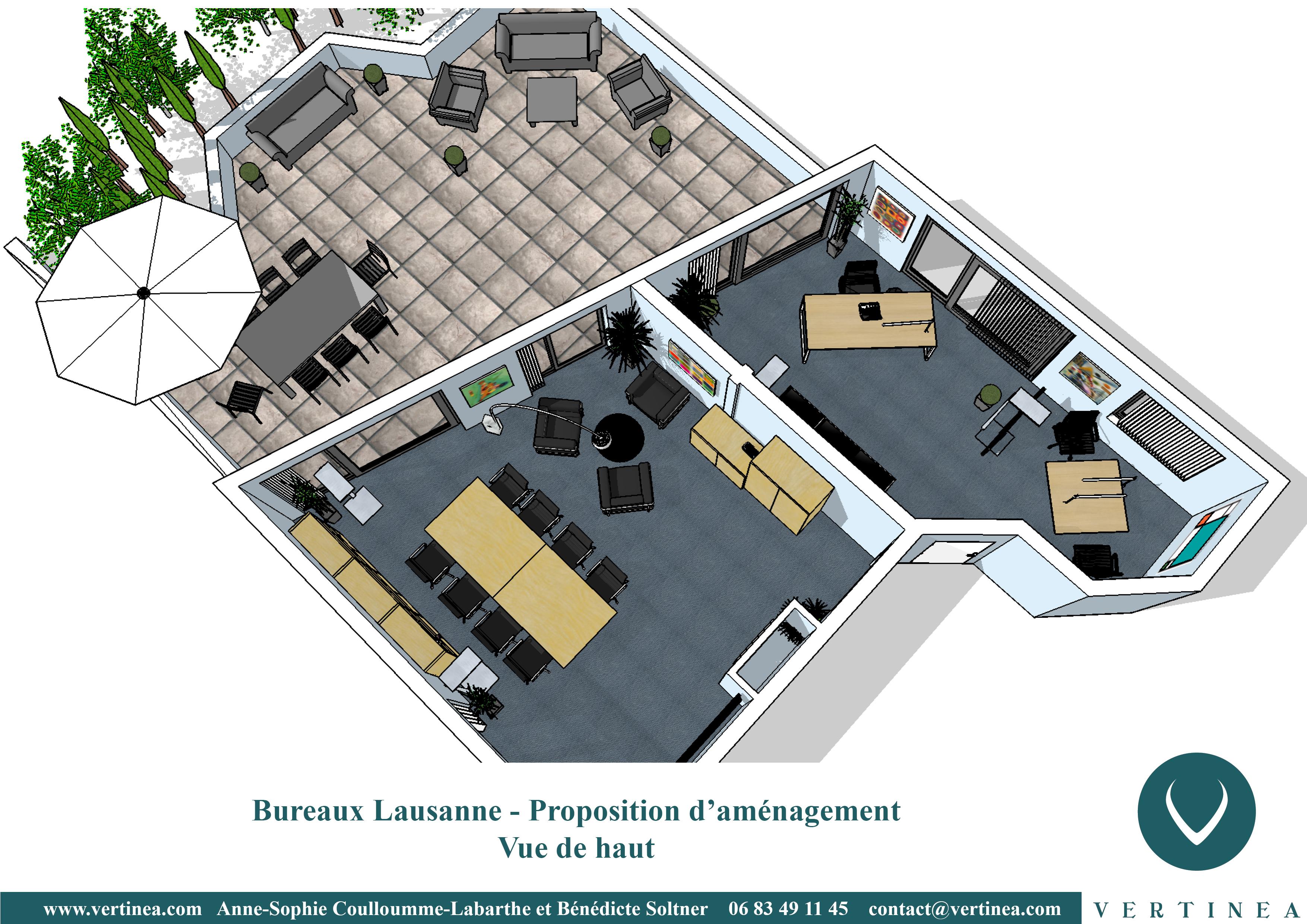 Aménagement et décoration intérieure de bureaux à lausanne vertinea