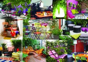 la tendance colorée en terrasse
