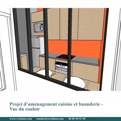 Cuisine plan bar - Conseils aménagement et déco intérieure Lyon Vertinea
