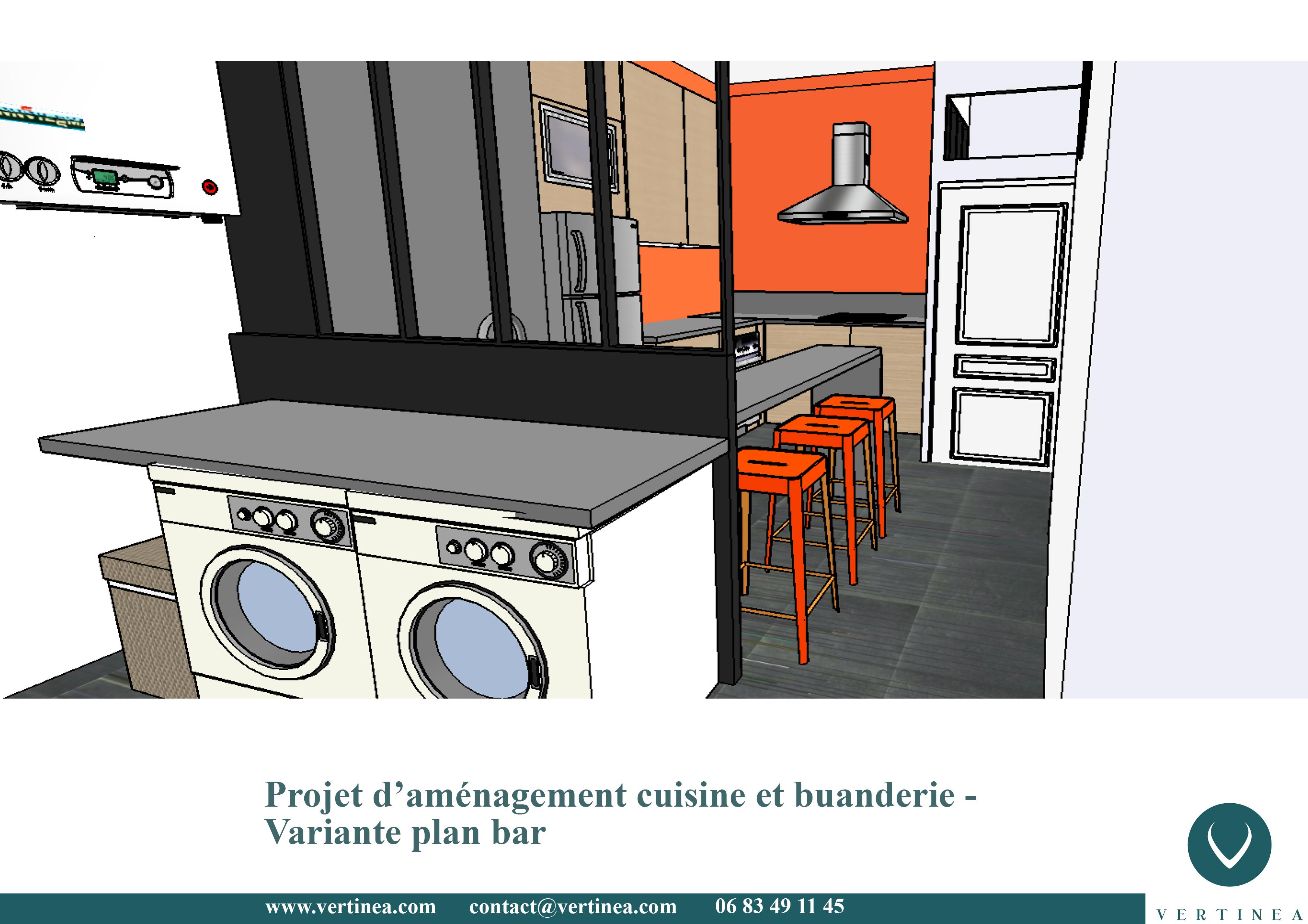 Am nagement optimisation d 39 une cuisine pour int grer une for Deco cuisine 4m2