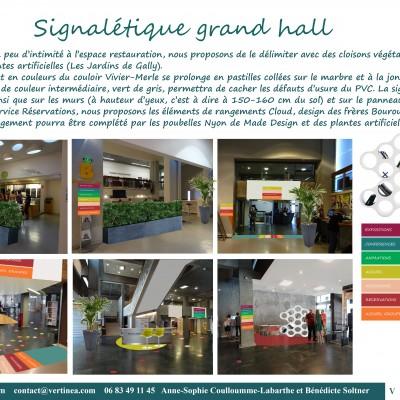 Aménagement et décoration grand hall de la bibliothèque de la Part-Dieu à Lyon, propositions Vertinea decoration interieure Lyon