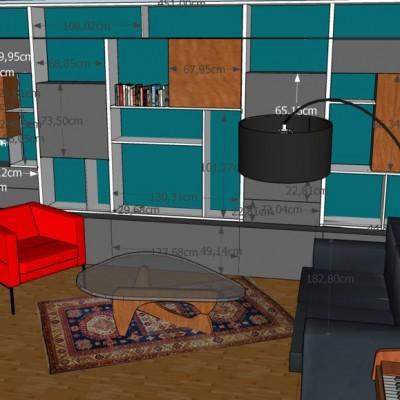 Aménagement et décoration salon à Lyon 6, propositions Vertinea decoration interieure Lyon