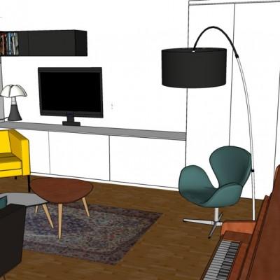 Aménagement et décoration salon à Lyon, propositions Vertinea decoration interieure Lyon