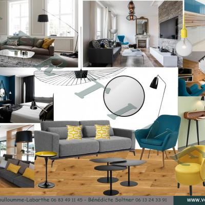Aménagement et décoration studio à Lyon Bellecour, propositions Vertinea decoration interieure Lyon
