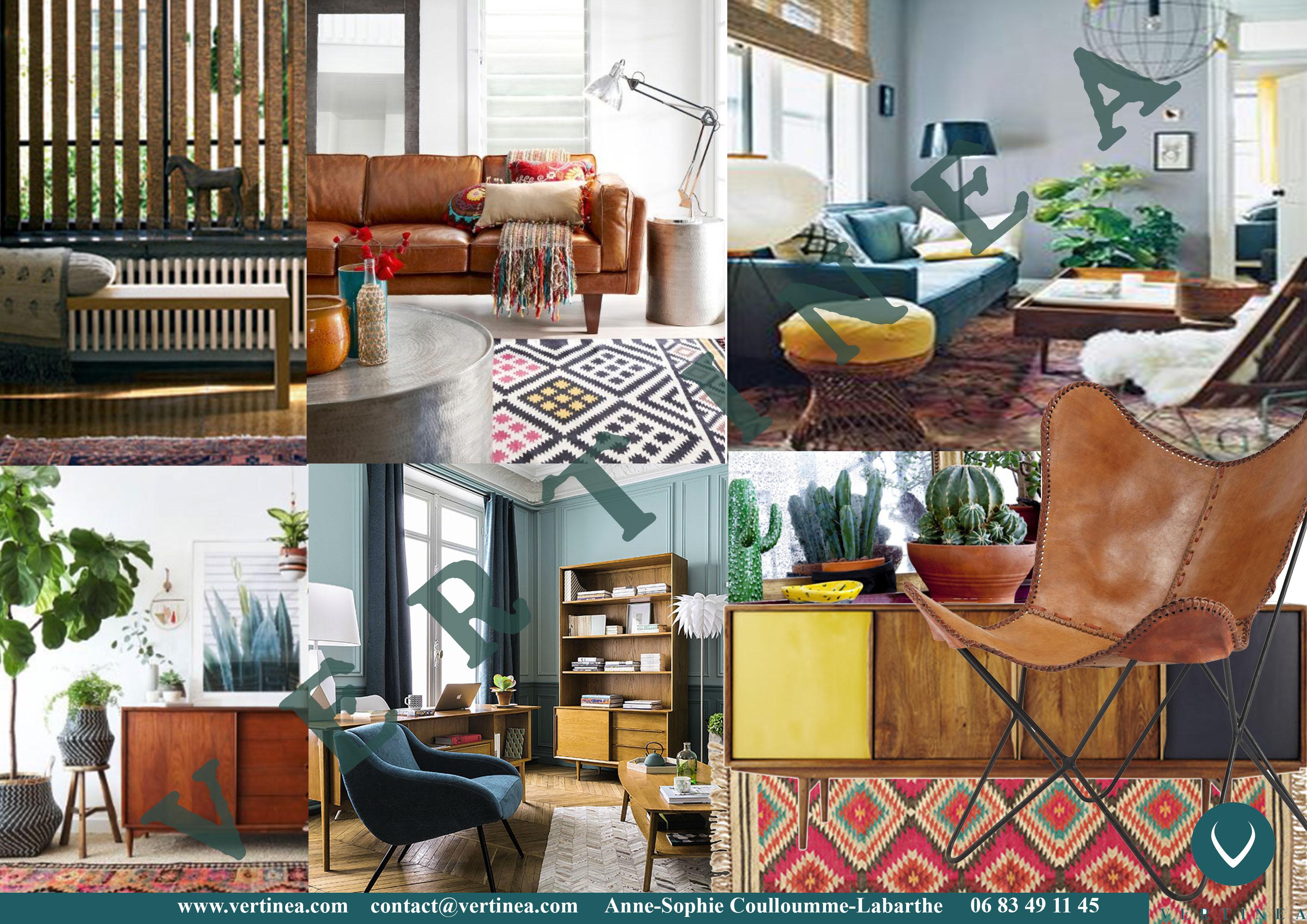 d coration d 39 un s jour dans un style ethnic chic tassin vertinea. Black Bedroom Furniture Sets. Home Design Ideas
