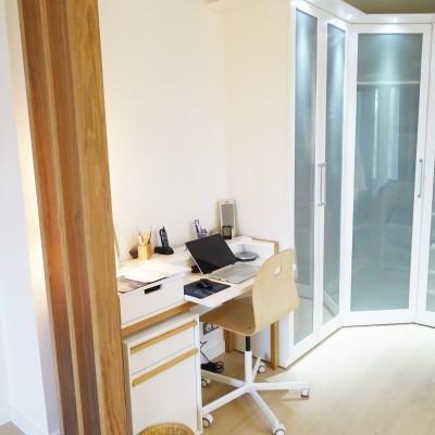 Décoration intérieure, aménagement, rénovation et suivi de chantier suite parentale Lyon St Cyr au Mont d'Or, style contemporain élégant et naturel - Bureau