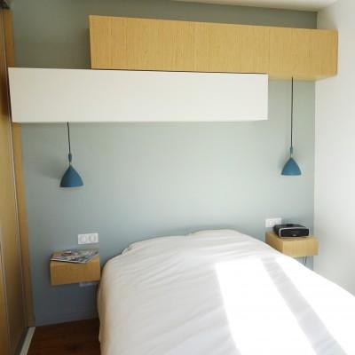 Décoration intérieure, aménagement, rénovation et suivi de chantier Chambre parentale Lyon Caluire, style scandinave contemporain élégant et naturel - Chambre