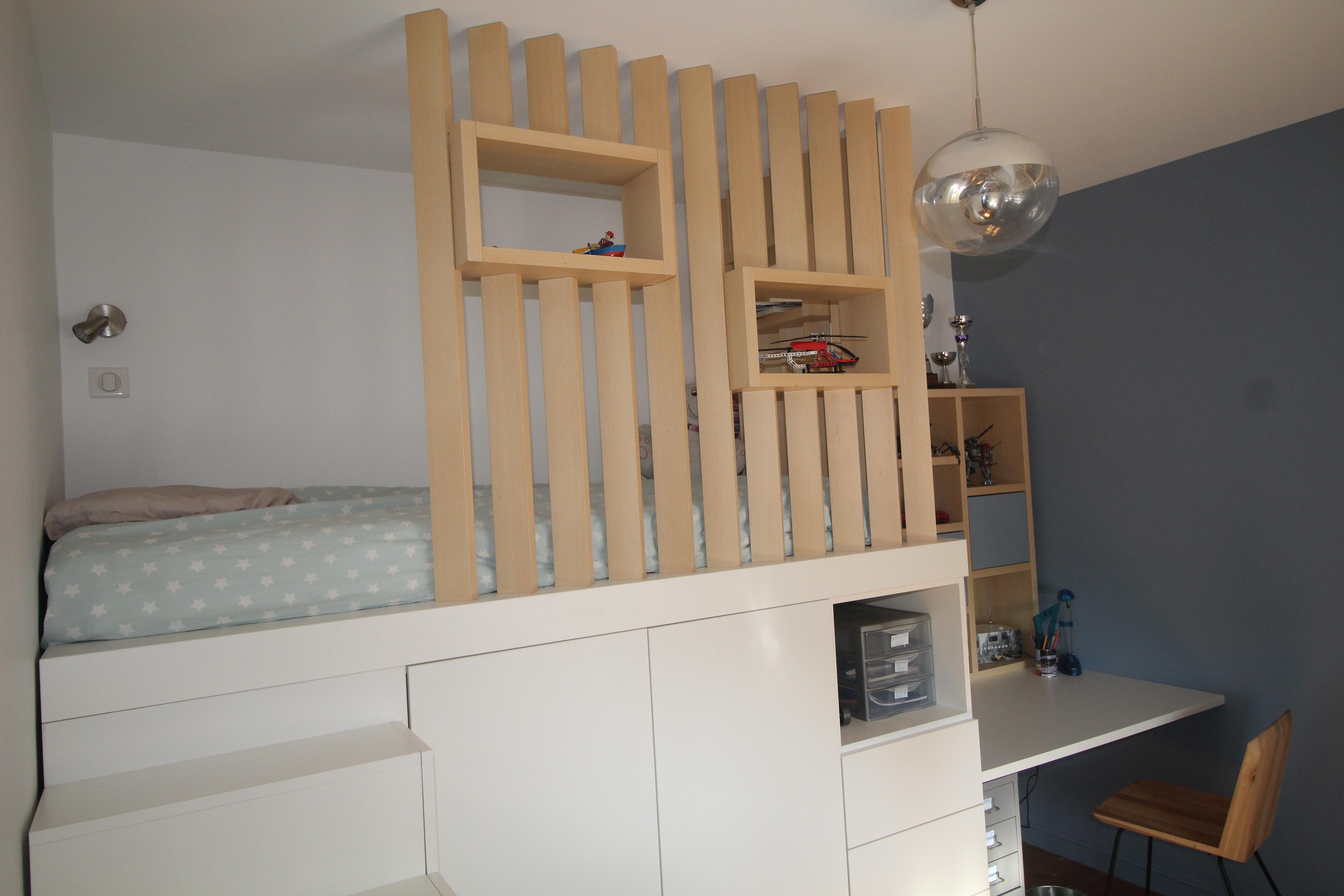 Chambre Lit Cabane Fille aménagement d'une chambre d'adolescent avec un lit cabane en