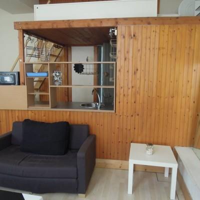 Décoration intérieure, aménagement, rénovation et suivi de chantier Studio Lyon, petit appartement vieux Lyon - Salon avant travaux