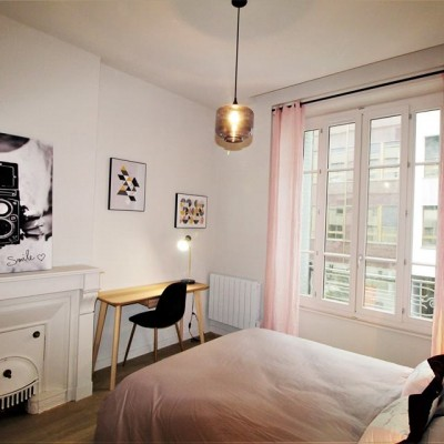 Décoration intérieure, aménagement, rénovation et suivi de chantier T4 Lyon, appartement Lyon 6 - Chambre scandinave