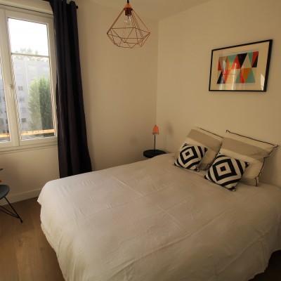 Décoration intérieure, aménagement, rénovation et suivi de chantier appartement Lyon Part-Dieu - Chambre scandinave