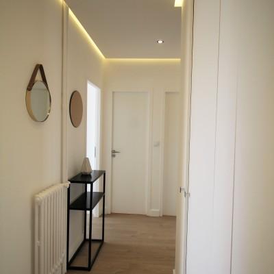 Décoration intérieure, aménagement, rénovation et suivi de chantier appartement Lyon Part-Dieu - Entrée scandinave