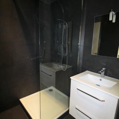 Décoration intérieure, aménagement, rénovation et suivi de chantier appartement Lyon Part-Dieu - Salle de bain contemporaine