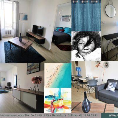 Décoration intérieure, aménagement, rénovation et suivi de chantier maison Lyon, appartement Lyon - Planche d'ambiance Salon
