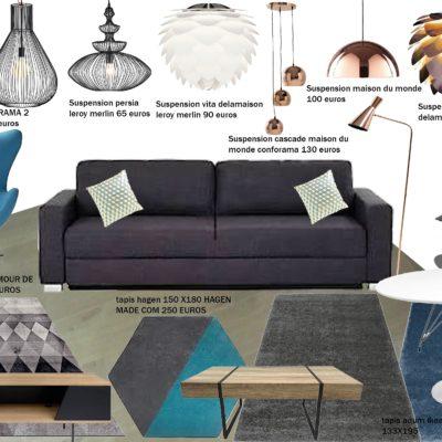 Décoration intérieure, aménagement, rénovation et suivi de chantier maison Lyon, appartement Lyon - prescription Salon