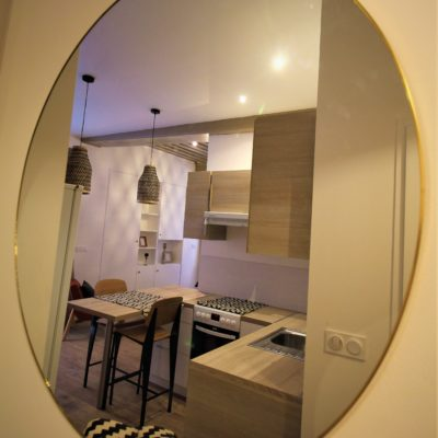 Appartement ancien réaménagé avec charme dans un style bohème chic - Décoration intérieure, aménagement, rénovation et suivi de chantier Vertinea à Lyon