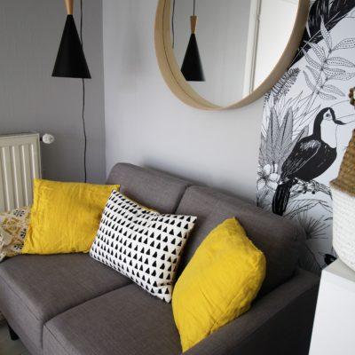 Studio réaménagé à Sainte Foy lès Lyon dans un style bohème chic - Décoration intérieure, aménagement, rénovation et suivi de chantier Vertinea à Lyon