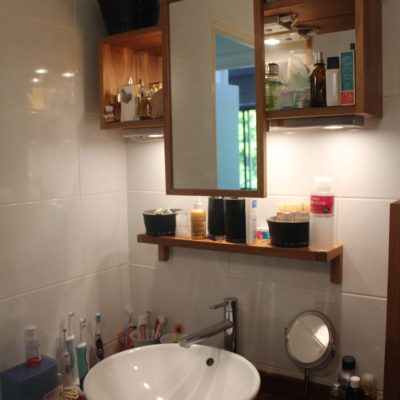Photo Avant rénovation, aménagement d'une salle de bain bleu vert émeraude à Sainte Foy lès Lyon, Réalisation agence décoration intérieure Vertinea à Lyon