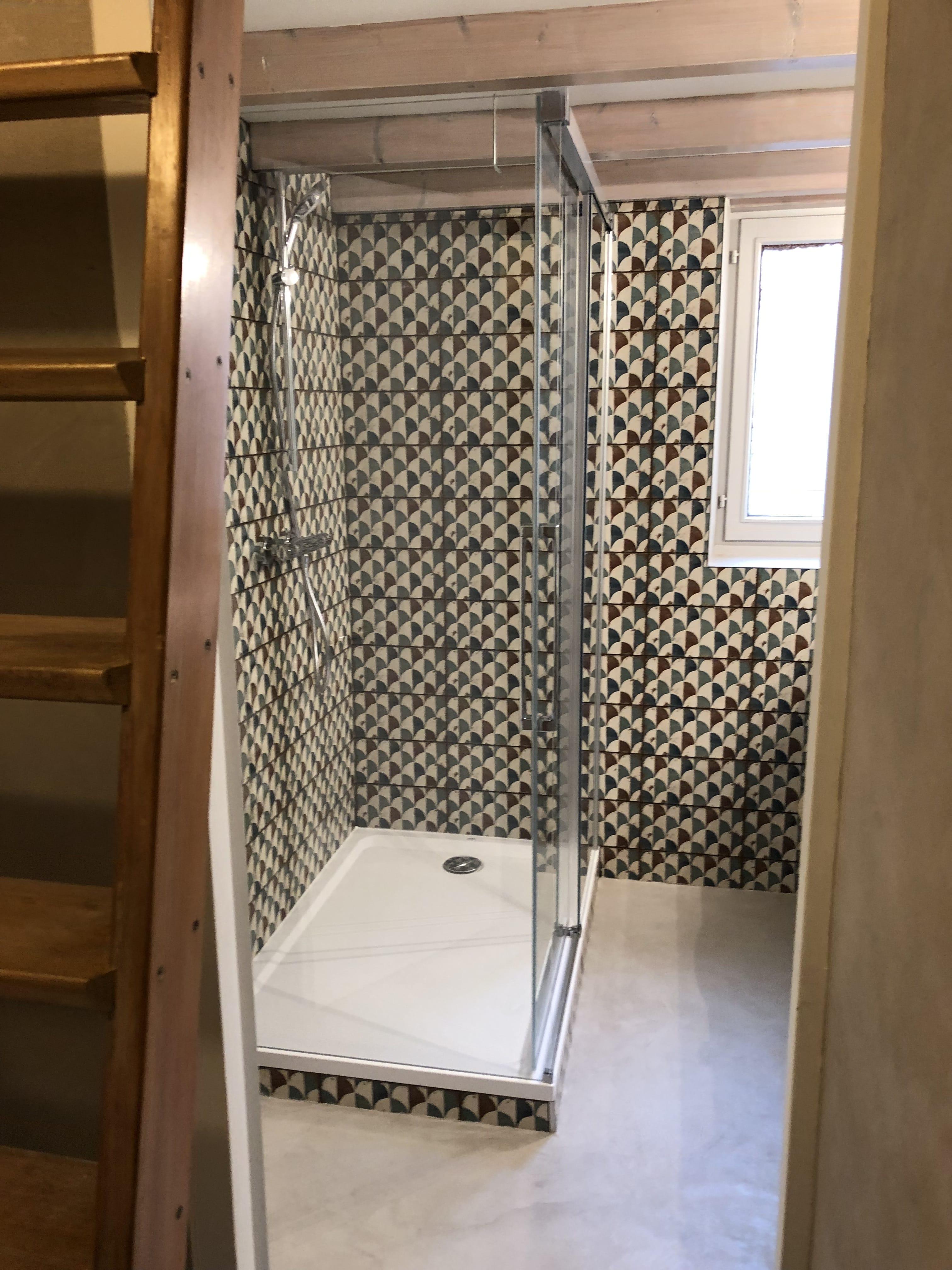 Rénovation d\'une salle de bain, décoration ethnic chic de style riad ...