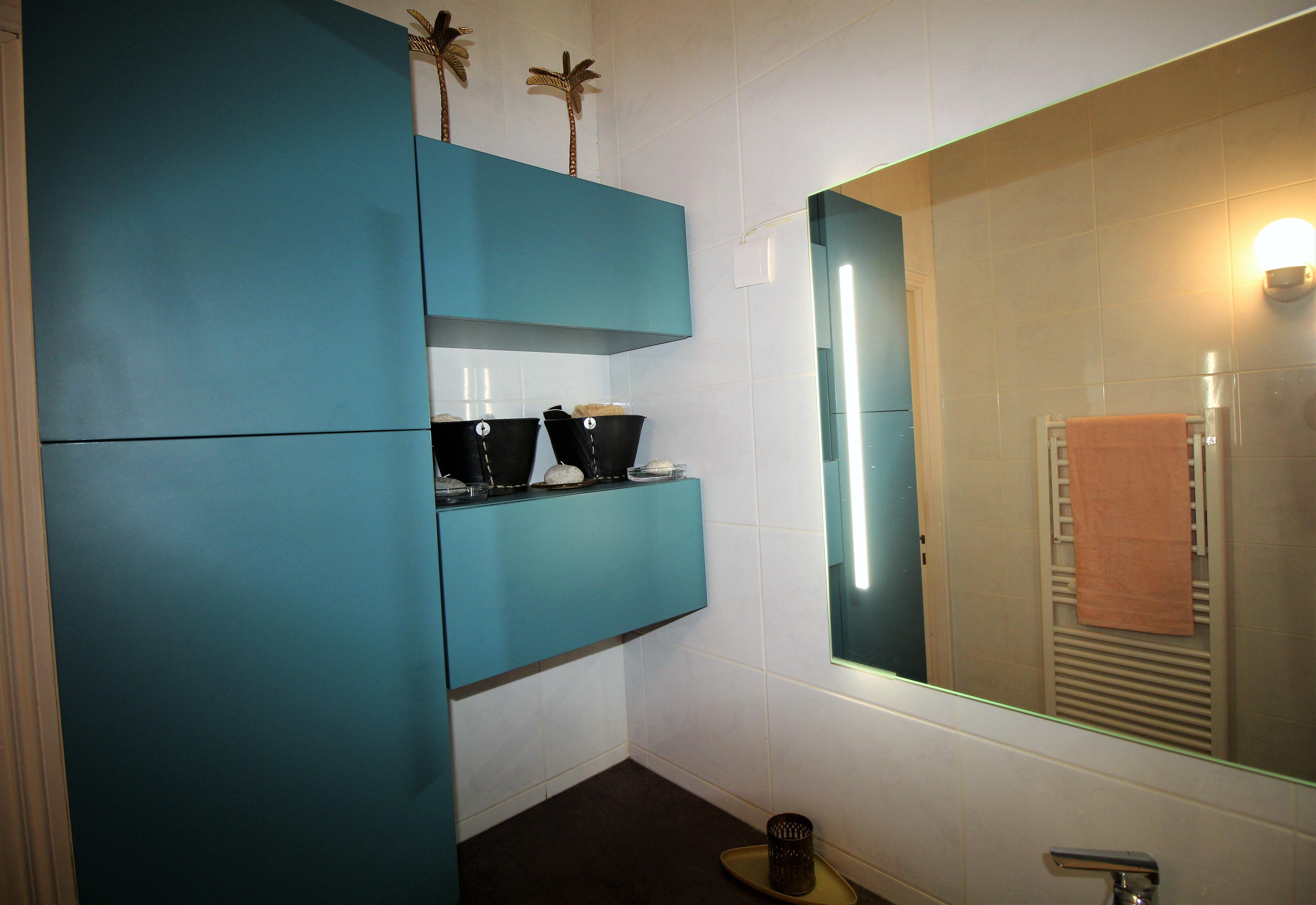 Rénovation d\'une salle de bain couleur émeraude à Sainte Foy ...