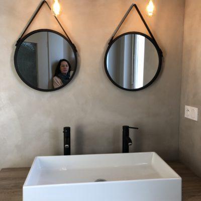 Salle de bain de style industriel chic - Décoration intérieure, aménagement et maîtrise d'oeuvre maison Saint Cyr au Mont d'Or - Réalisation agence Vertinea Décoration intérieure Lyon