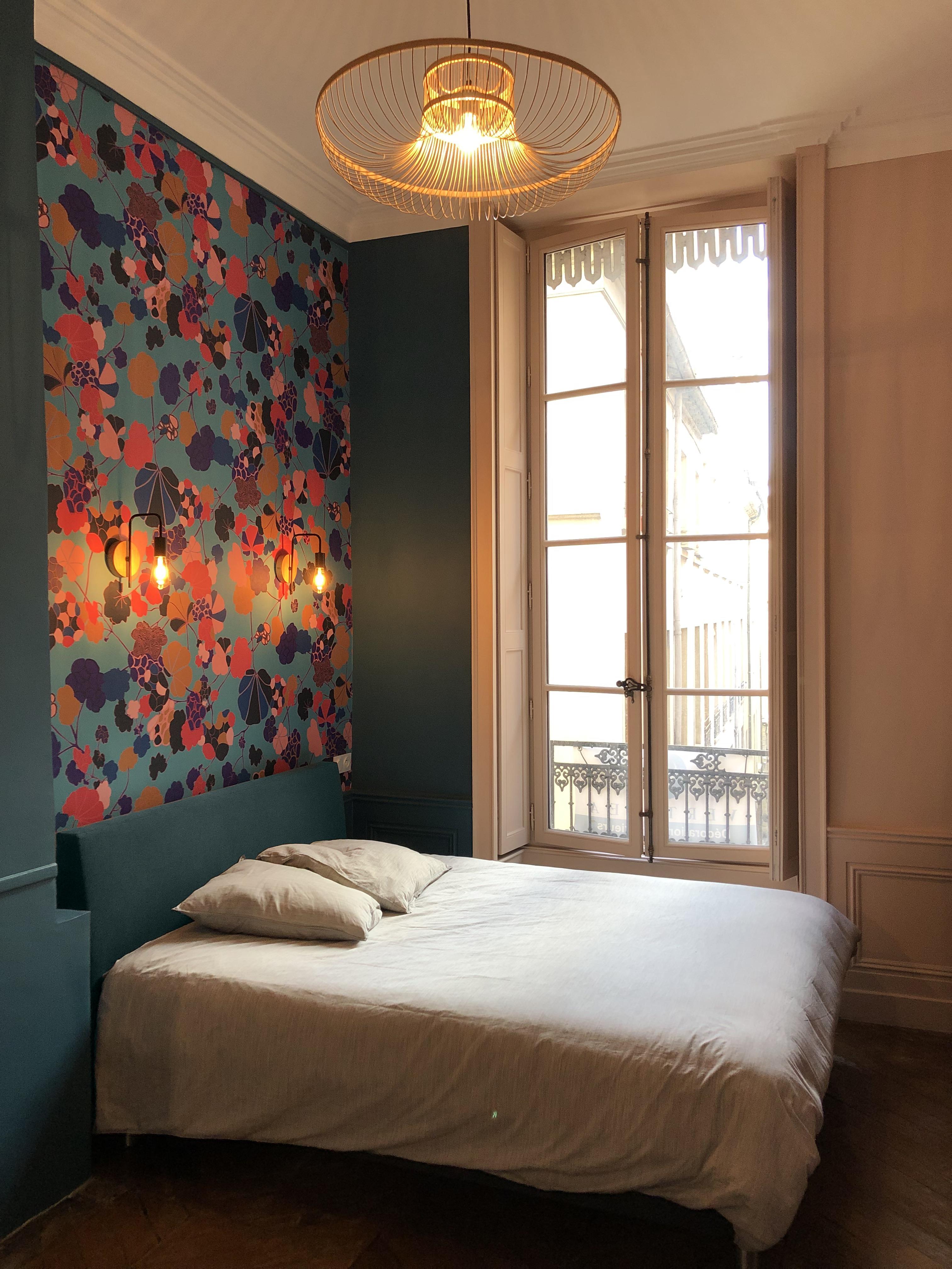 Chambre Parentale Bleu Canard rénovation et décoration d'une suite parentale à lyon croix