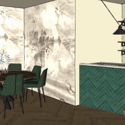 Restaurant - aménagement et décoration intérieure d'une salle de restaurant de style ethnic chic urbain à Lyon - Réalisation agence Vertinea, Anne-Sophie Coulloumme-Labarthe Décoratrice d'intérieur Lyon