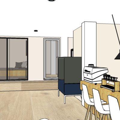 Bureaux d'entreprise design et conviviaux - aménagement et décoration intérieure à Lyon - Réalisation agence Vertinea, Anne-Sophie Coulloumme-Labarthe Architecture intérieure Lyon